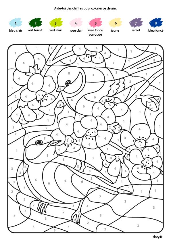 Coloriage Magique Les Oiseaux Dory Fr Coloriages Nativity Coloring Pages Spring Coloring Pages Coloring Pages