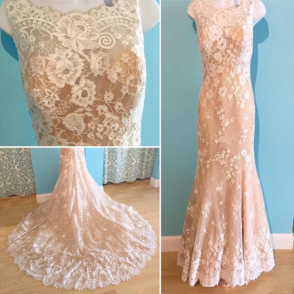 Allure 9354: gold shimmer vintage lace wedding dress | Allure Bridal ...