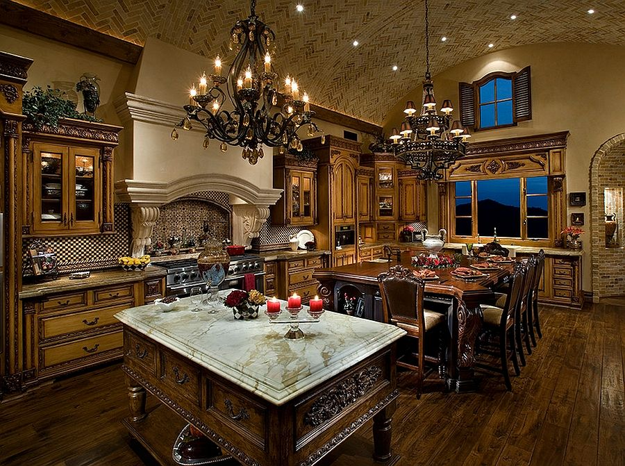 Marvelous Tuscan Kitchen Wall Decor Decorating Ideas Images In Mediterranean Design With Alder Cabinets Arizona Barrel Vault Ceiling Beautiful