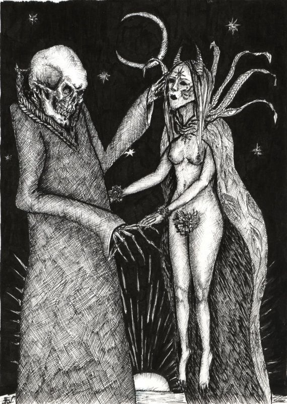 Death And The Maiden by justellvonkart on Etsy