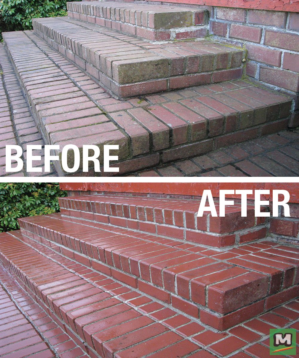 Restore The Look Of Brick And More With 30 Seconds Outdoor Cleaner Uniquely Formulated To Clean Stains From Al Brick Paver Patio Outdoor Cleaners Clean Patio