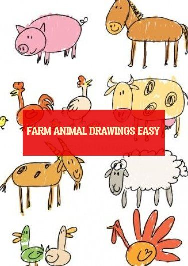 farm animal drawings easy