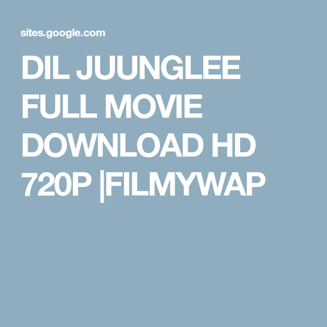 Watch Dil Juunglee Full-Movie Streaming