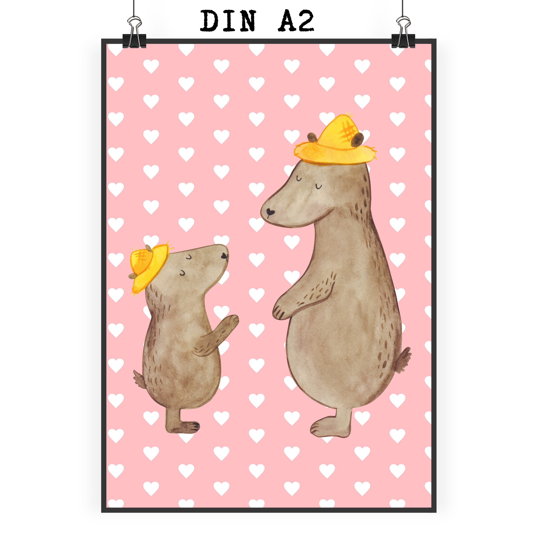Poster Din A2 Baren Mit Hut Aus Papier 160 Gramm Weiss Das Original