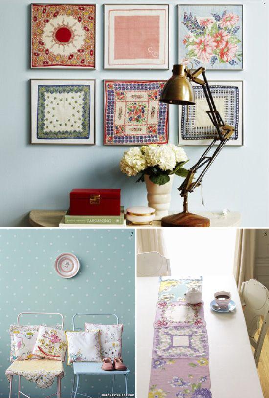diy projets de couture avec des mouchoirs d co pinterest projets de couture mouchoirs et diy. Black Bedroom Furniture Sets. Home Design Ideas