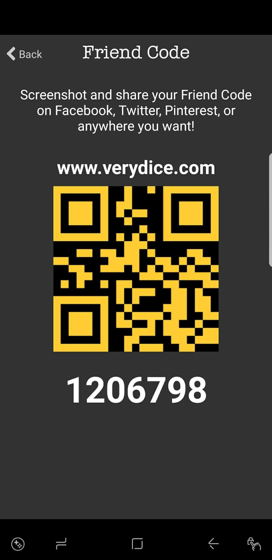 Use my Verydice code to earn unlimited rolls for one hour