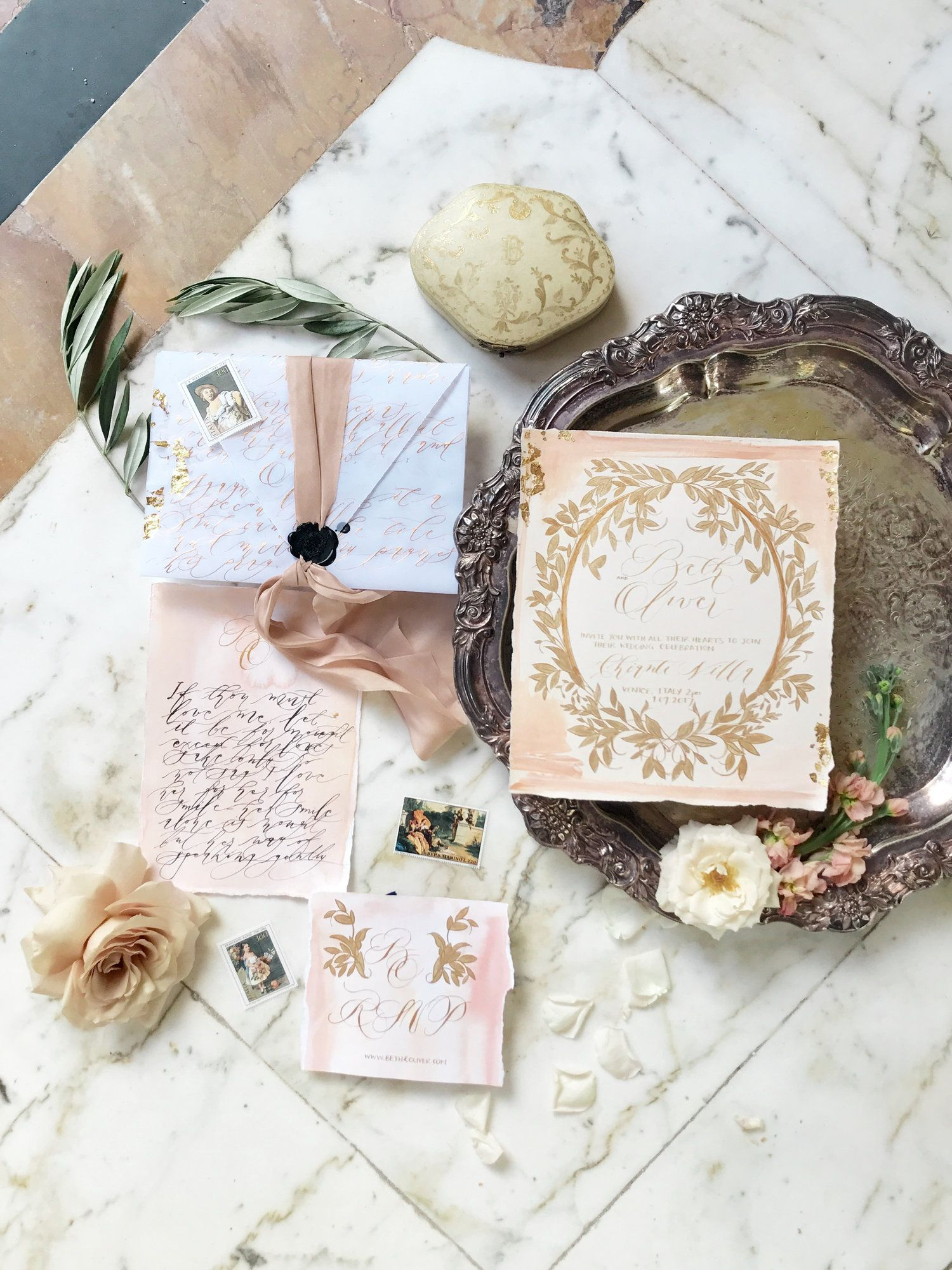 Luxe Calligraphy by Crimson Letters Invitations & Design | Wedding ...