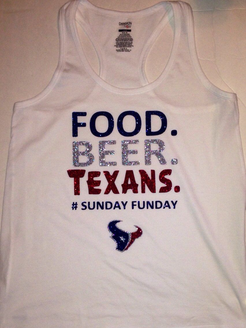 Houston Texans Tank by SparkleShirtsandMore on Etsy, $25.00