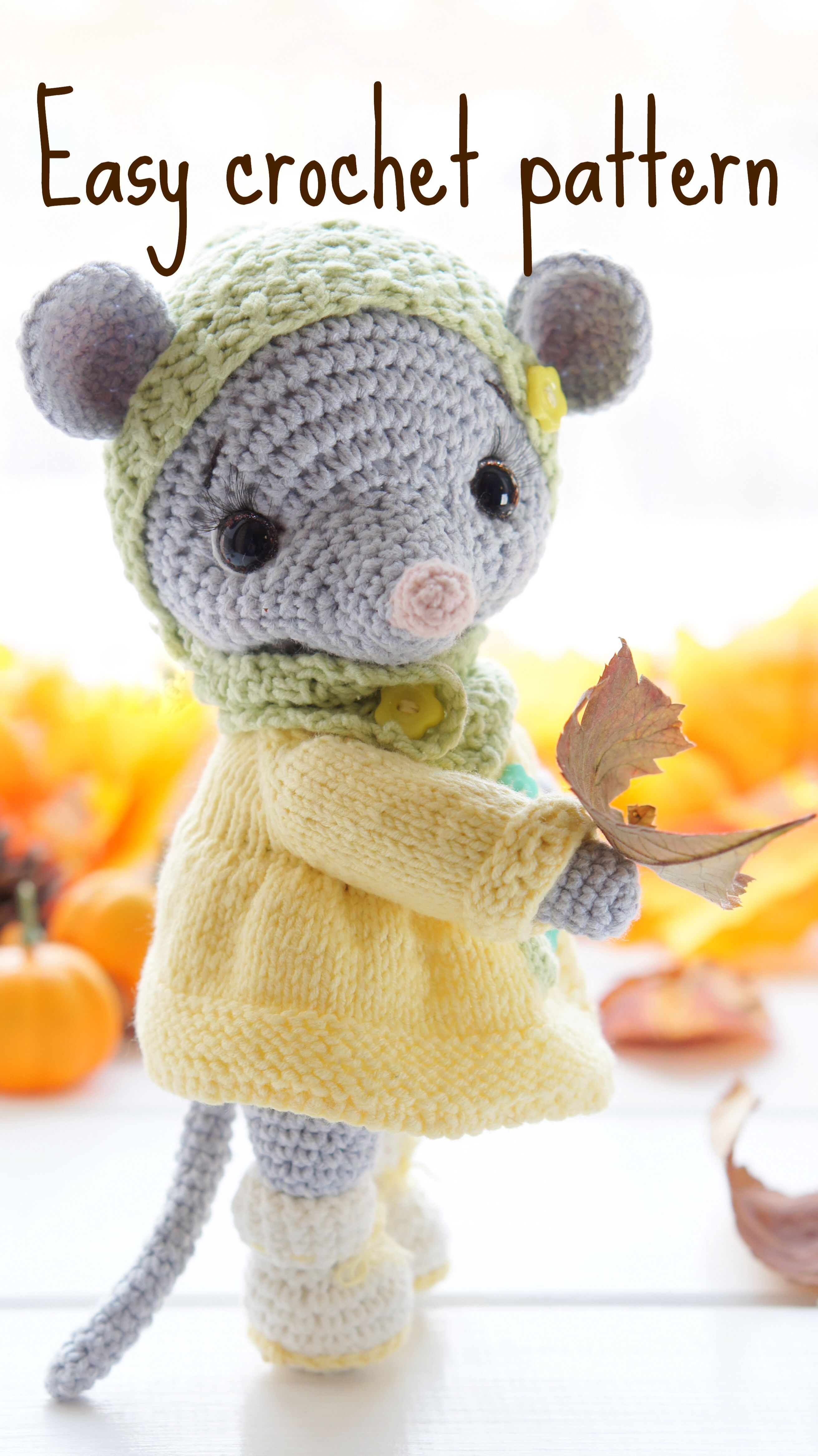 Crochet mouse pattern. Amigurumi animal pattern cute mouse | Etsy #stuffedtoyspatterns
