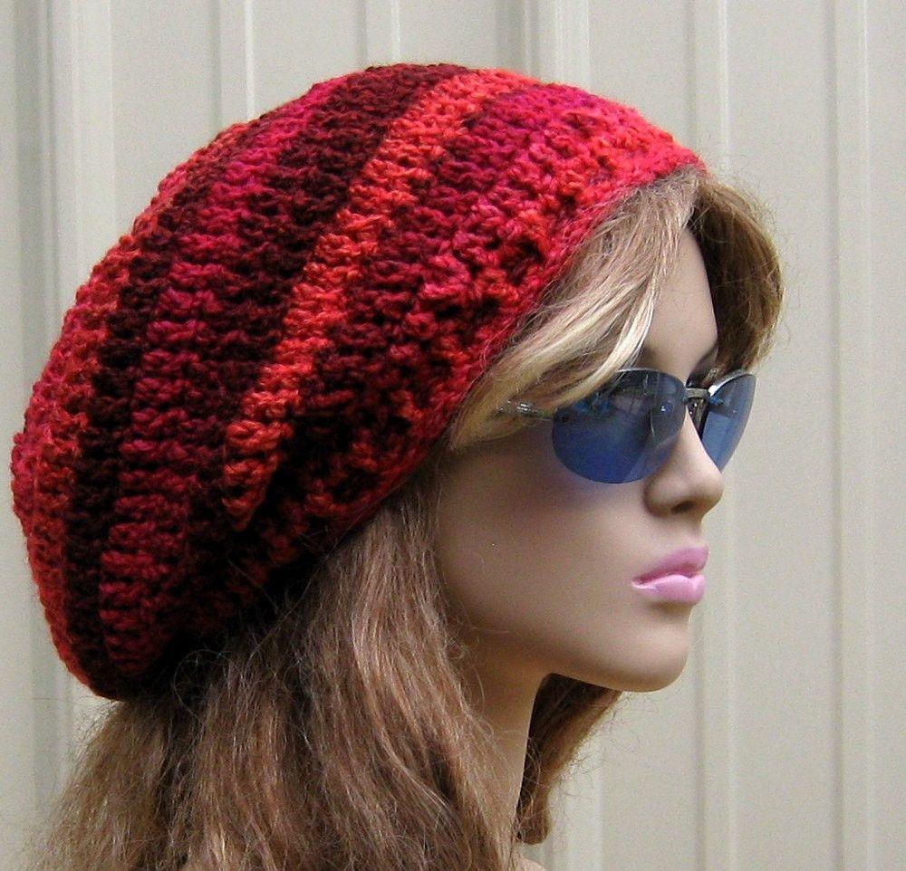 Caribbean Blue beanie, Tam Dread hat, Hippie Slouchy beanie, smaller ...