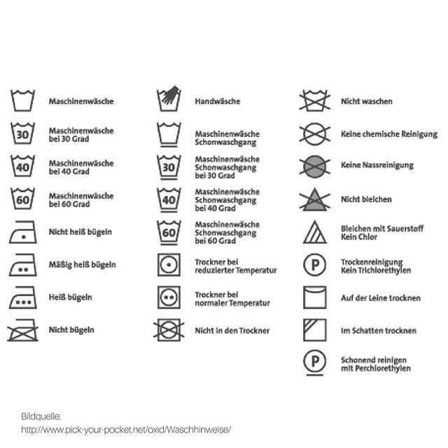 Du Wirst Einfach Nicht Schlau Aus Den Komischen Zeichen Die Dir Versuchen Zu Sagen Wie Du Deine Wasche Pflegen Sollst Waschezeichen Waschesymbole Waschzeichen