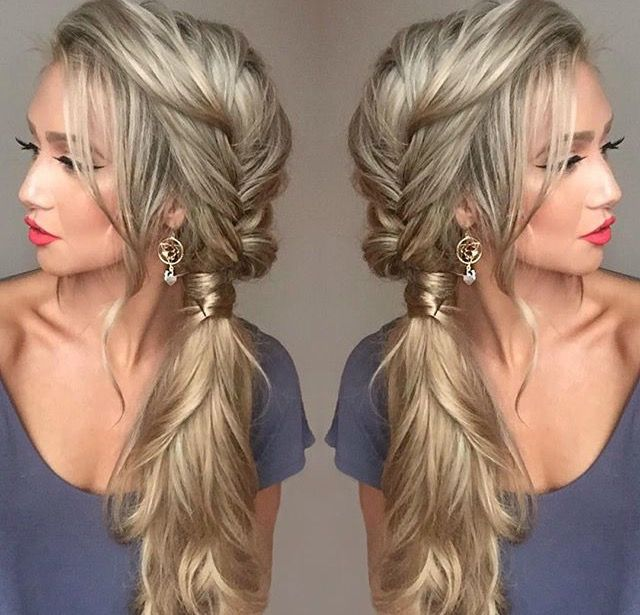 Braided Side Ponytail Side Ponytail Hairstyles Hair Styles Long Hair Styles