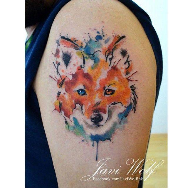 Family Tattoo Ideas Buscar Con Google: Tatoo Zorrito Acuarelado - Buscar Con Google