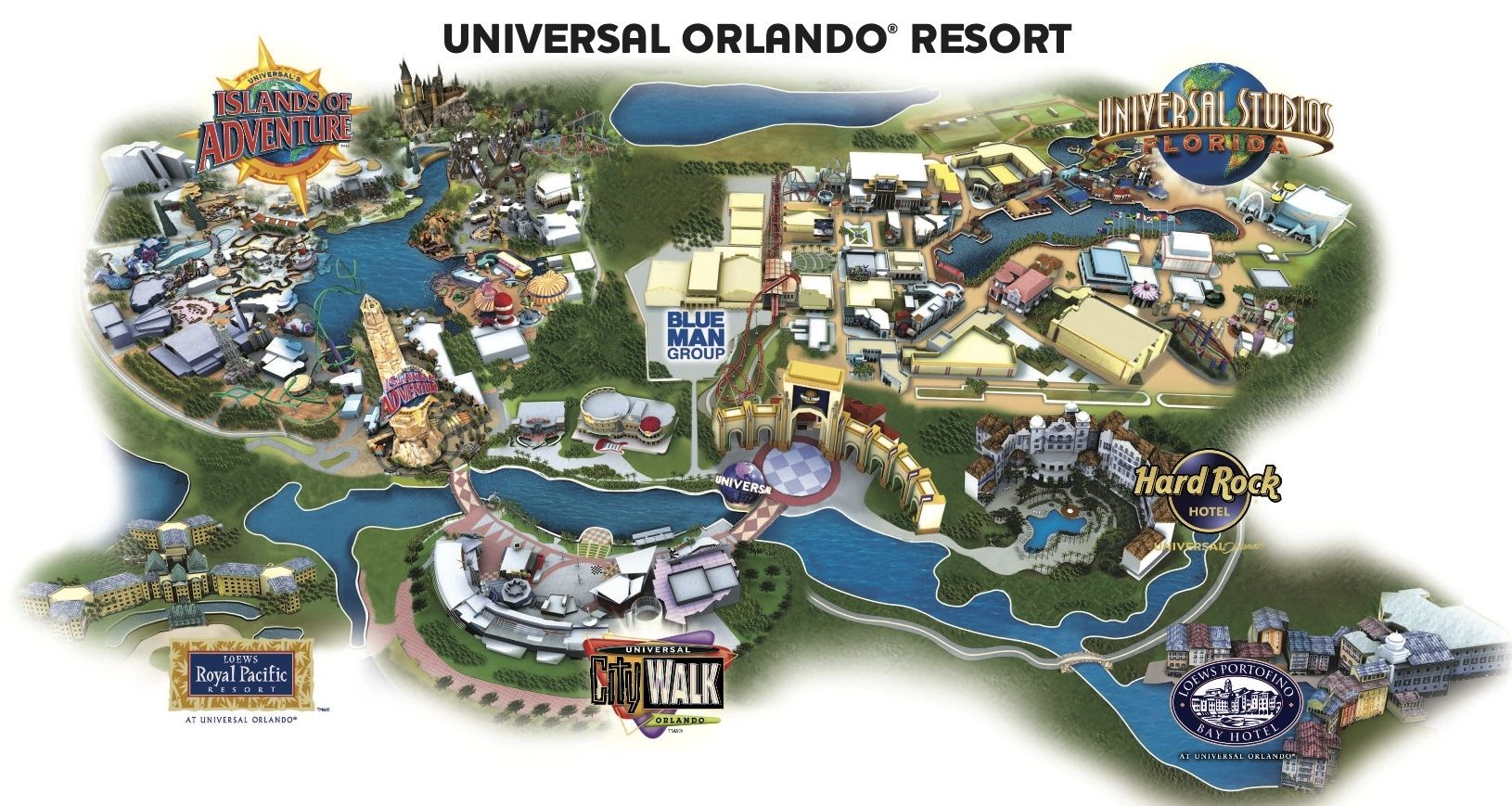 Hard Rock Hotel Universal Orlando Resort Map