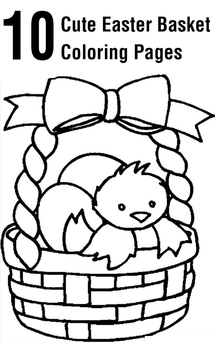 10 cute easter basket coloring pages for your toddler - Easter Basket Coloring Pages