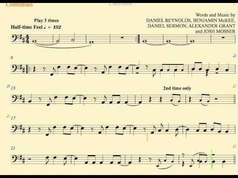 Radioactive - Imagine Dragons - Bass - Sheet Music, Chords