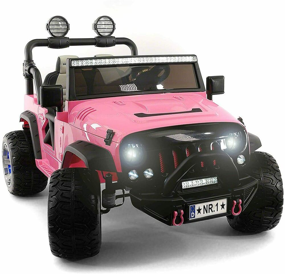 Kids Ride On Wild Jeep Battery Powered Car 12 Volt Children Electric Toy Pink Unbranded In 2020 Battery Powered Car Power Cars Kids Ride On