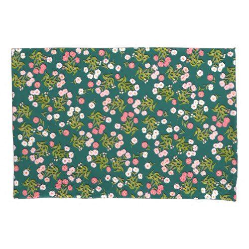 Little Pink Country Floral Garden Pillowcase