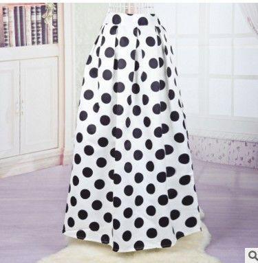 15 colors high waist floral pleated skirt maxi skirt