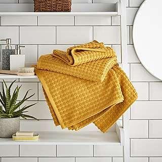 Elements Ochre Dots Towel Towel Bathroom Accessories Luxury Modern Bathroom Faucets