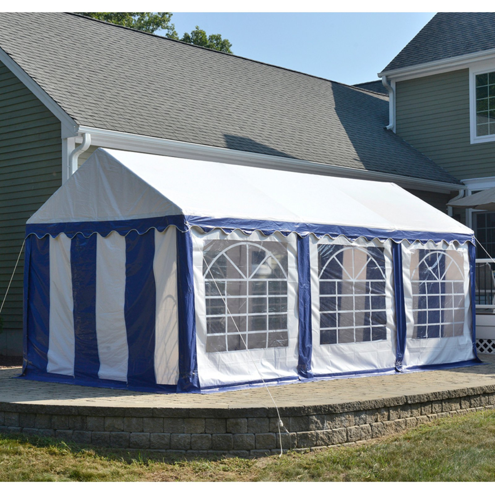 ShelterLogic 10 x 20 ft. Canopy & Enclosure Kit Blue/White
