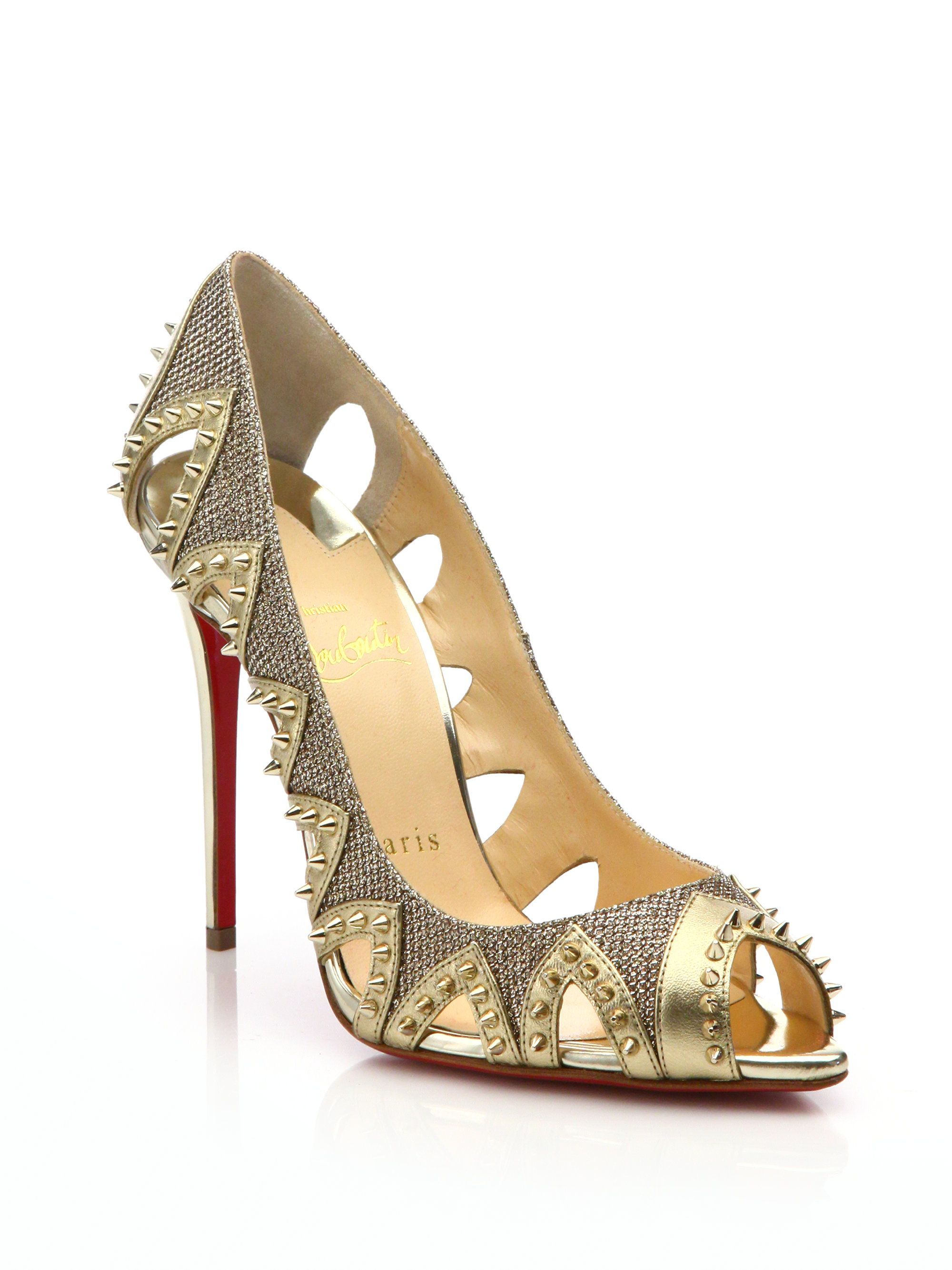 Christian Louboutin Cutout Pointed-Toe Pumps sale online cheap 0O8GETew