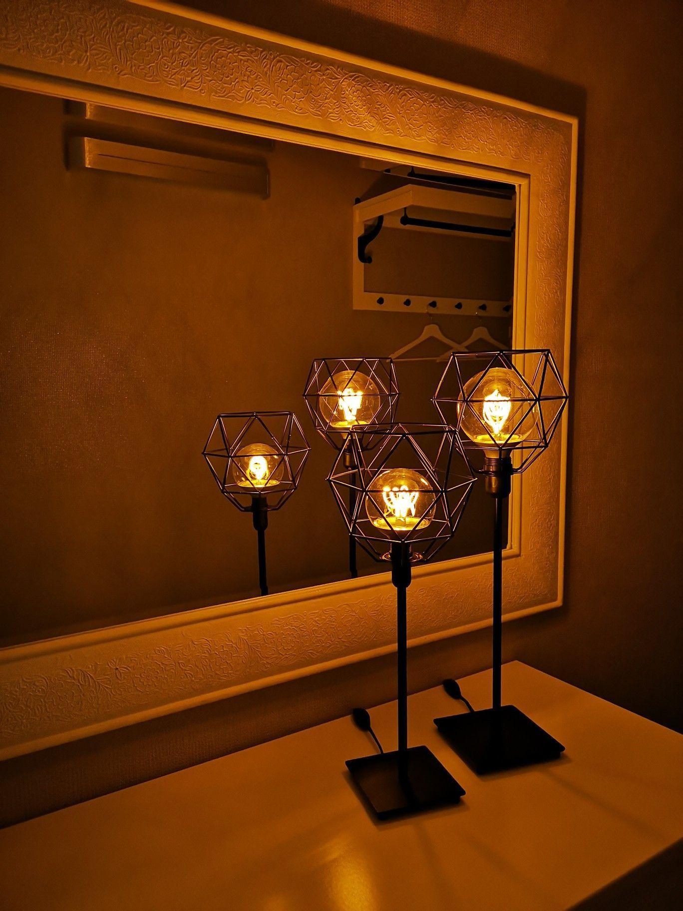 Tischleuchte Dekoration Wohnzimmer Tischlampe Dekorieren Ikeahack Dekoidee Basteln Brunsta Kommode Spiegel Leuchte Nittio Woh Ikea Hack Lamp Ikea