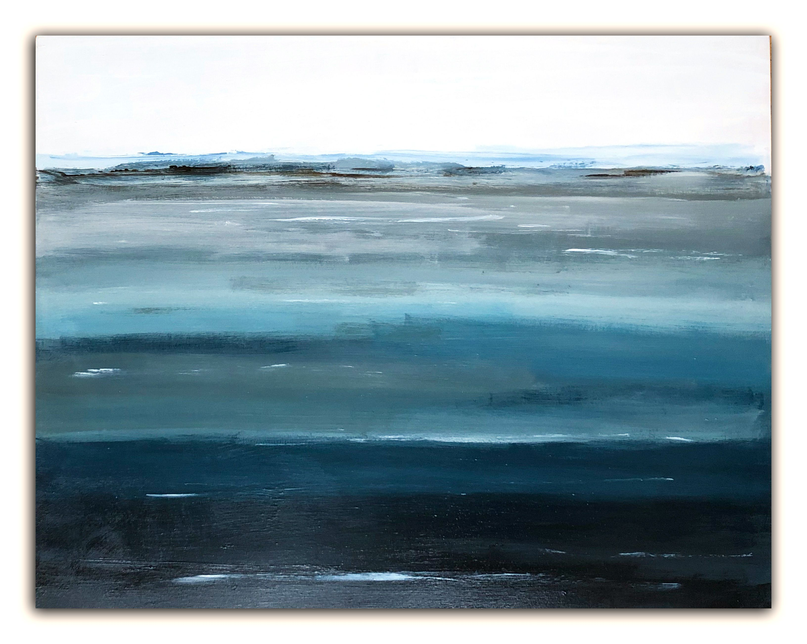 Layers Of Water Blue Ii Woodscapeart Abstract Art Landscape Ocean Painting Ocean Art