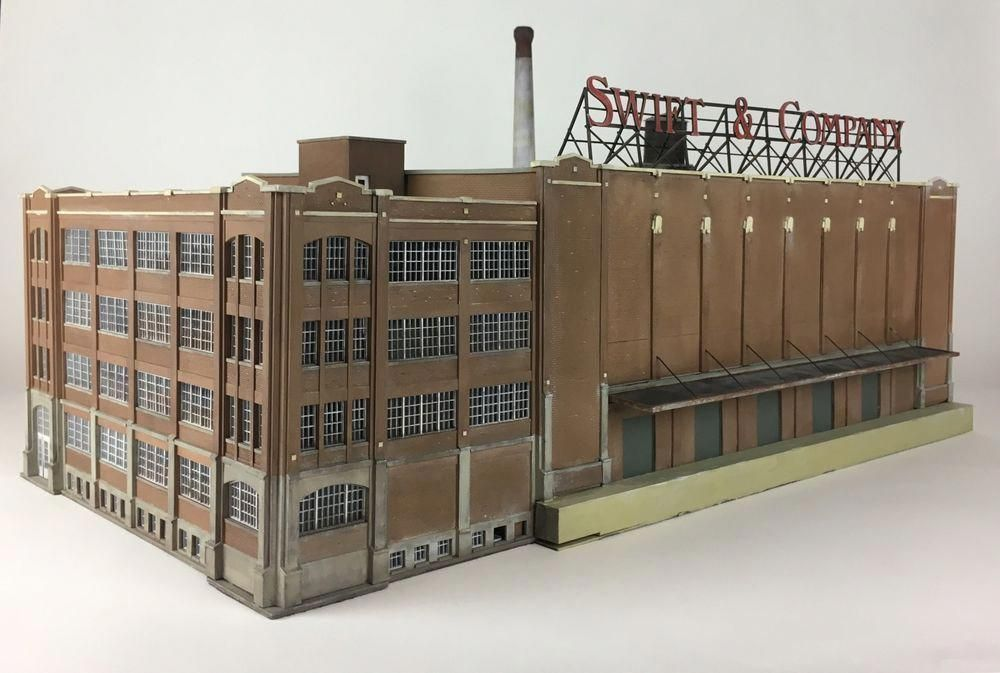 NICELY DETAILED & WEATHERED HO Scale SWIFT & COMPANY Packing Plant