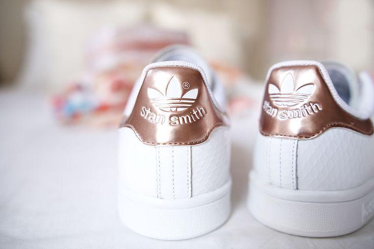 adidas superstar femme blanche et bronze