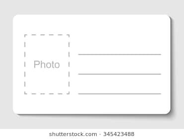 Empty Blank Id Card Vector Ilration Name Tag With Place For Photo