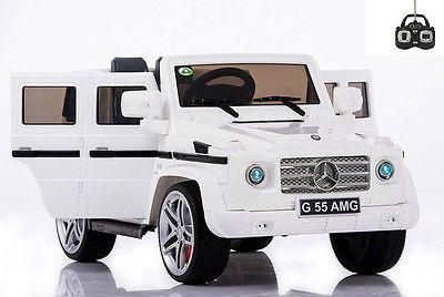 Quality Licensed Mercedes G55 12v Electric Ride On Jeep Parental Remote With Images Rubber Tires Mercedes Benz Wagon