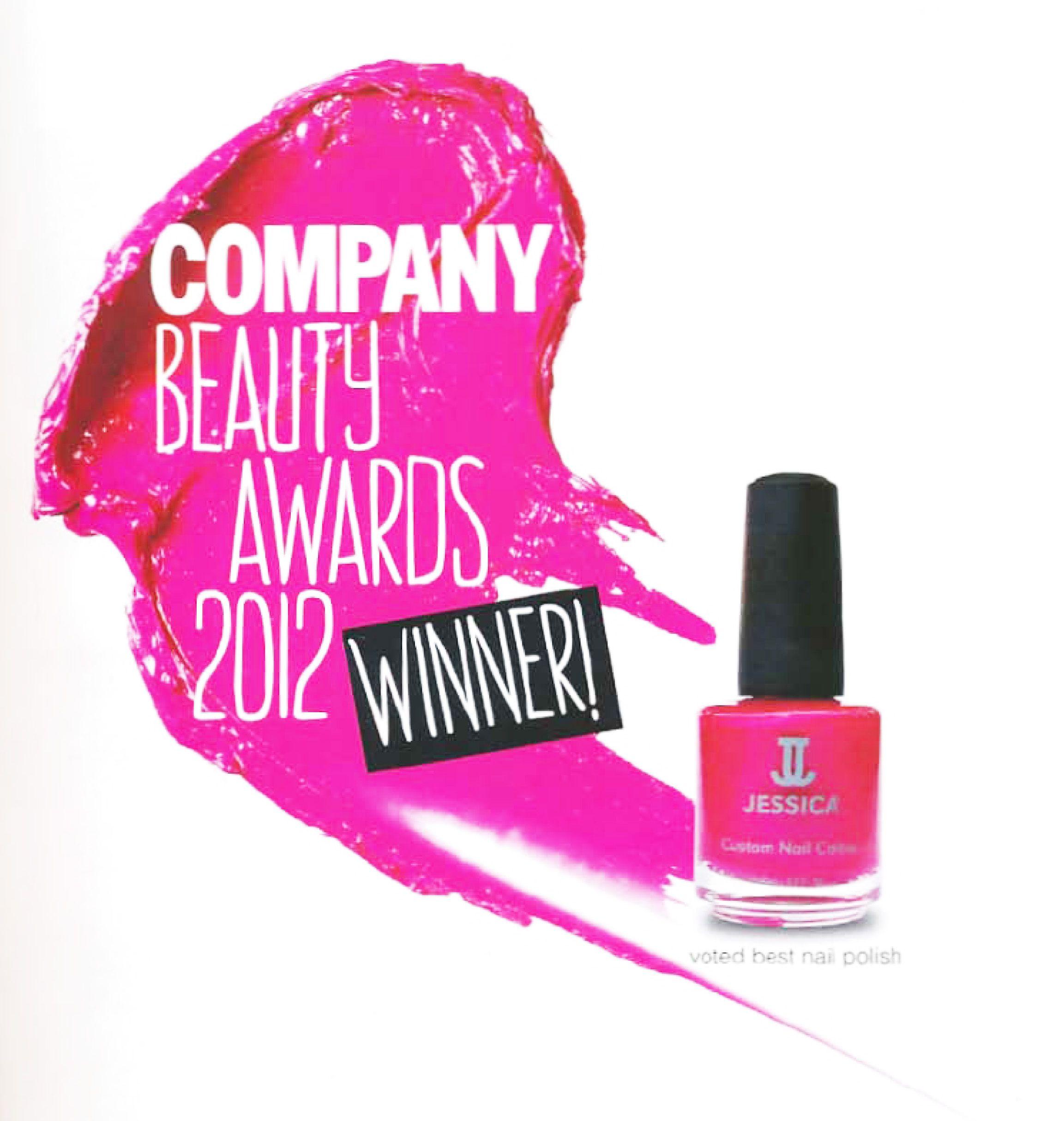 Jessica wins Best Nail Polish at COMPANY Beauty Awards 2012