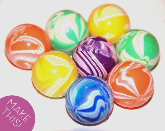 Make bouncy balls with Elmer's glue, borax, and cornstarch! So fun!