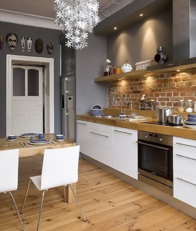 How Gorgeous Is This Kitchen Pinterest I Love The Brick