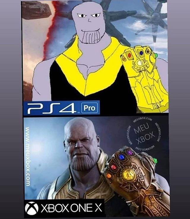 Thanos Ps4 Vs Xbox Xboxmemes Xbox Funny Xbox Gifts Funny Gaming Memes
