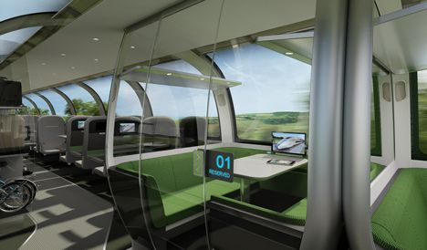 Mercury high speed train by Priestmangoode