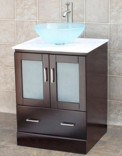 Picture Gallery For Website  Bathroom Vanity Cabinet Glass Vessel Sink Faucet MO Niersi http
