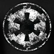 Battered Galactic Empire Symbol T Shirt Spreadshirt Id 9666155 Star Wars Decal Star Wars Symbols Star Wars Art