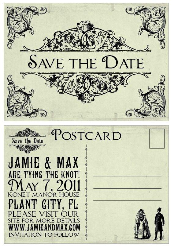 Wedding Save The Dates Vintage Victorian Edwardian Rustic Etsy In 2021 Wedding Saving Wedding Postcard Victorian Wedding Themes