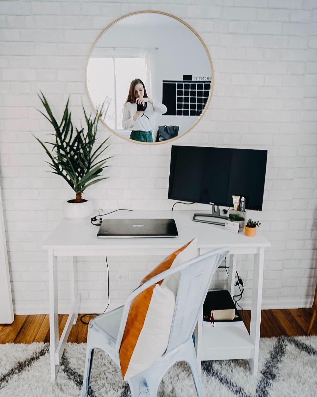 Modern Boho Office Ideas Neutral Female Office Ideas Female