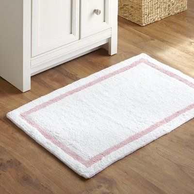Harriet Bee Simmon Essentials Bath Rug Color Light Pink Bath