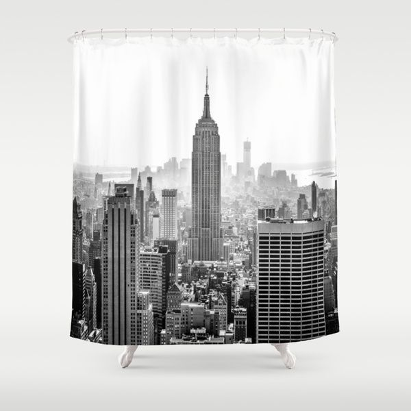 New York City By Studio Laura Campanella As A High Quality Shower Curtain Free Worldwide Shipping Available At S Unique Shower Curtain Shower Curtain Curtains