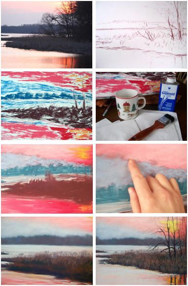 Free Pastel Landscape Painting Lesson For Beginners Follow A Step By Step Tutorial By Artist Christine Oil Pastel Techniques Pastel Art Oil Pastel Paintings