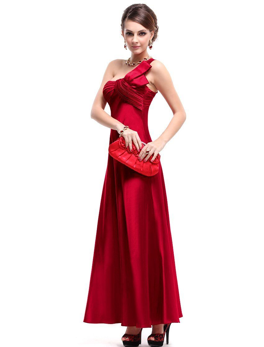 Ever pretty nwt open back one shoulder ruffles padded satin prom