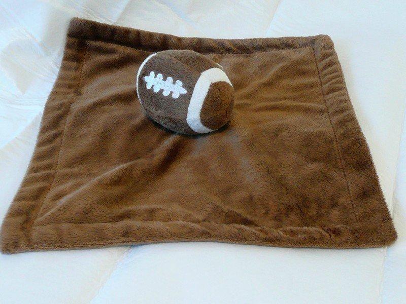 Koala Baby Plush Football Security Blanket Lovey Brown Plush Toy ...