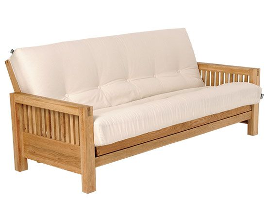 Oke - 3 Seater Sofa Bed Solid Oak | Daybed decor | 3 seater sofa bed ...