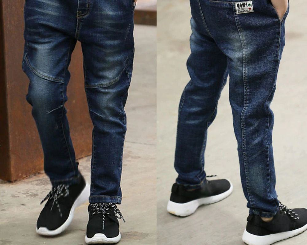 Zengyuan Jeans for Boys Loose Casual Trousers Spring and Autumn Suitable for Height 110-160cm