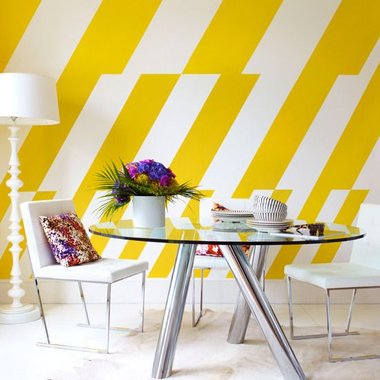 Using bold walls to make a design statement. | Strip paint, Bald ...