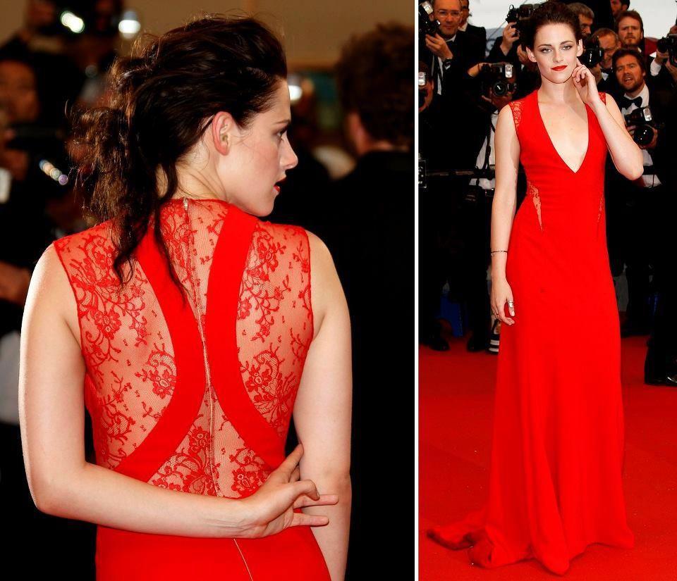 Kristen Stewart arrasou com esse modelito. Tudo perfeito, inclusive a cor. Madrinhas e convidadas, essa é uma ótima opção para uma festa de casamento.